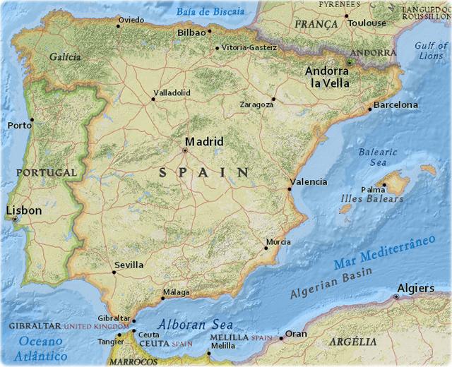 Mapas Da Espanha